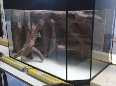 3D akvárium Hátterezés